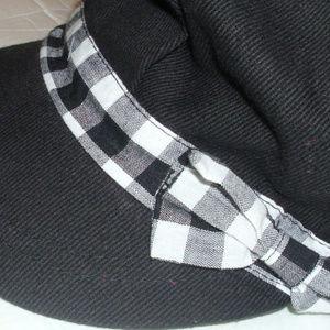 Newsboy cap sunhat visor baseball cap plaid bow